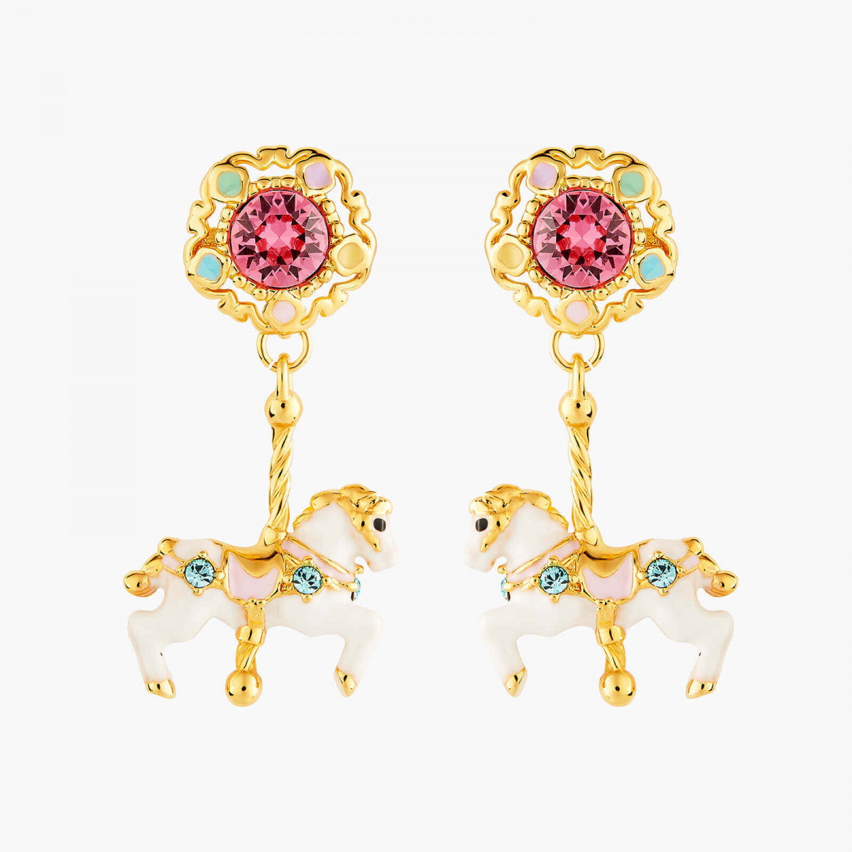 Carousel and Horse post earrings