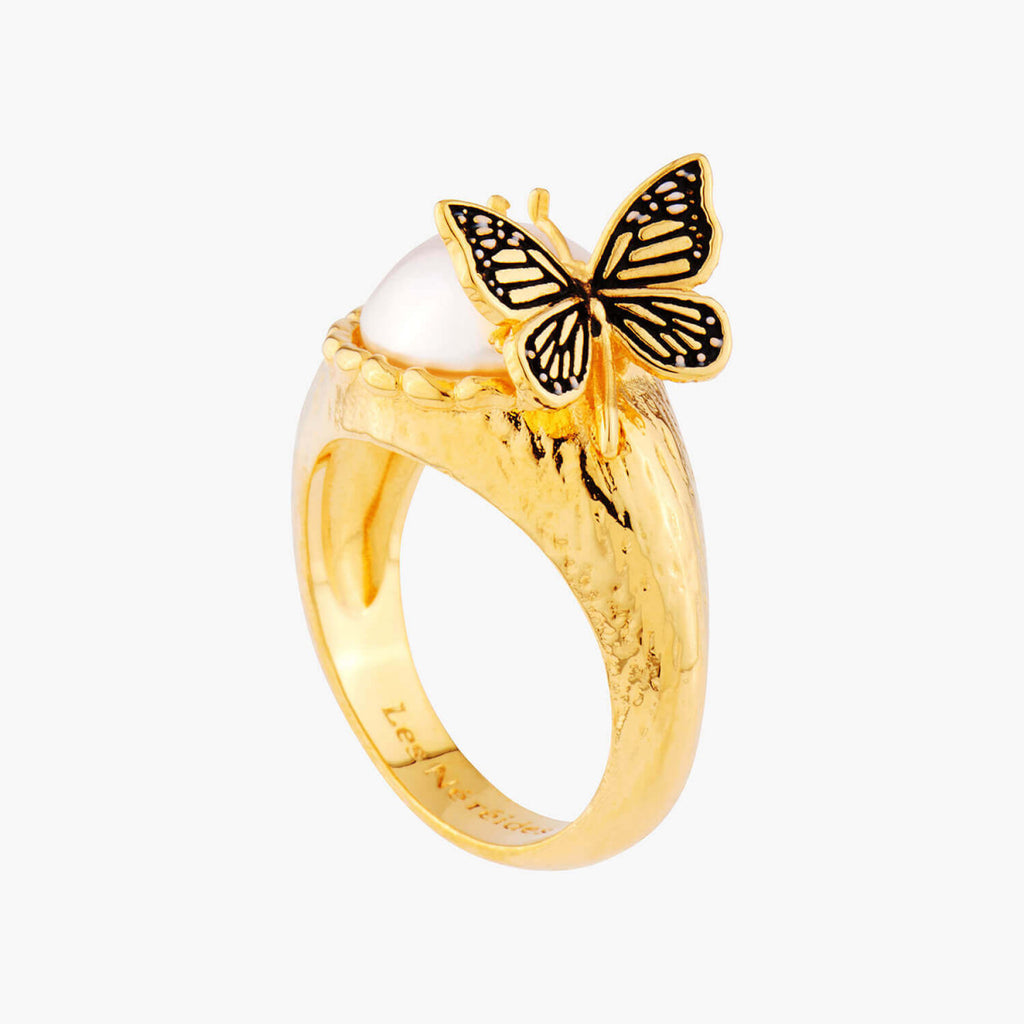 Cocktail Ring Butterfly and Fantasy Bead