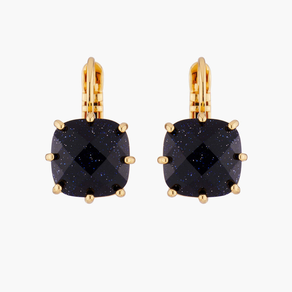 La Diamantine Dormeuses Earrings With Small Square Stone