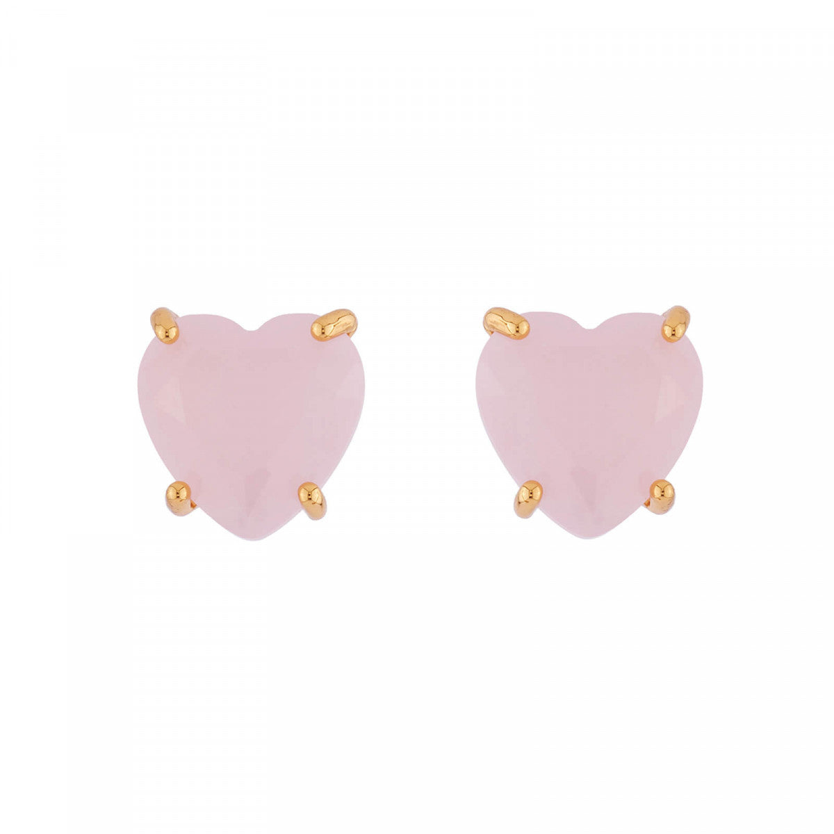 La Diamantine Earrings with Little Heart-Shaped Stone