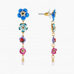 Forget-me-not and Rosebuds Dangling Earrings