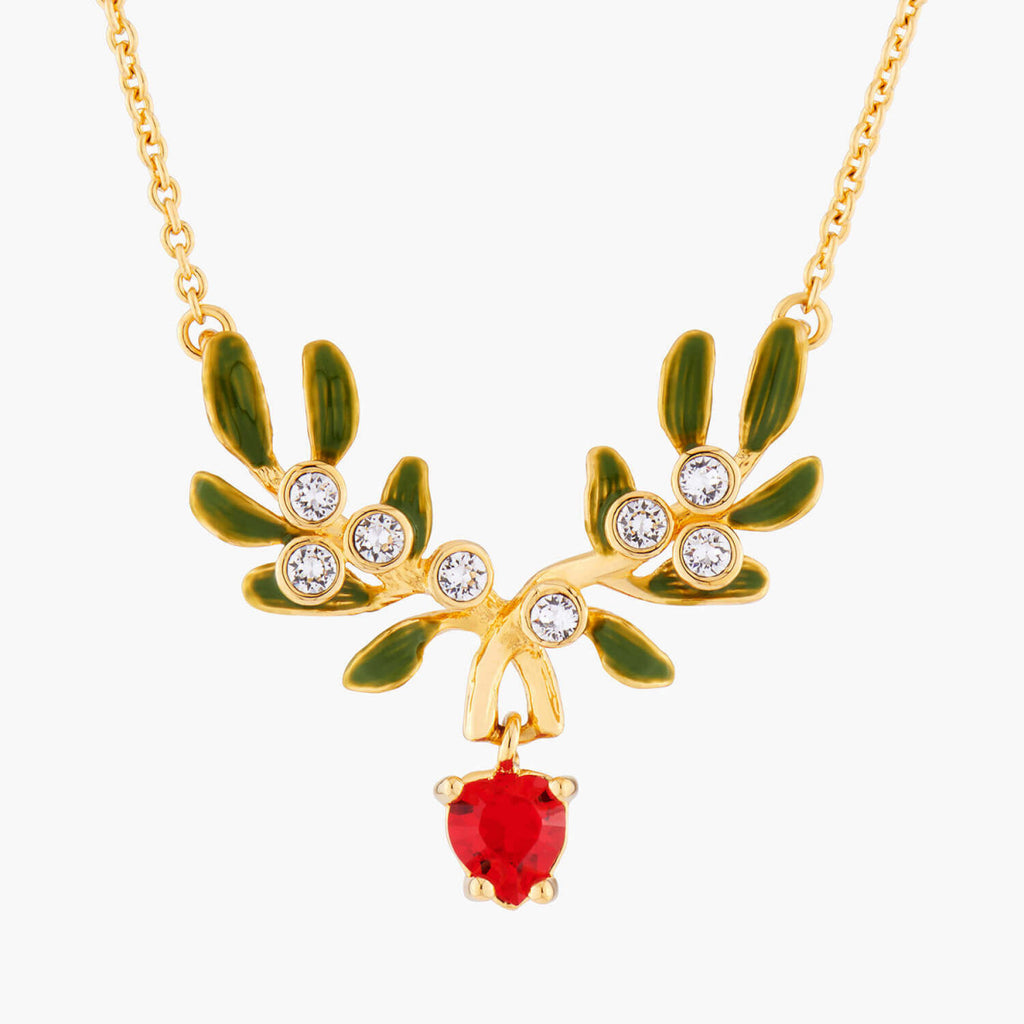 Heart Mistletoe thin necklace