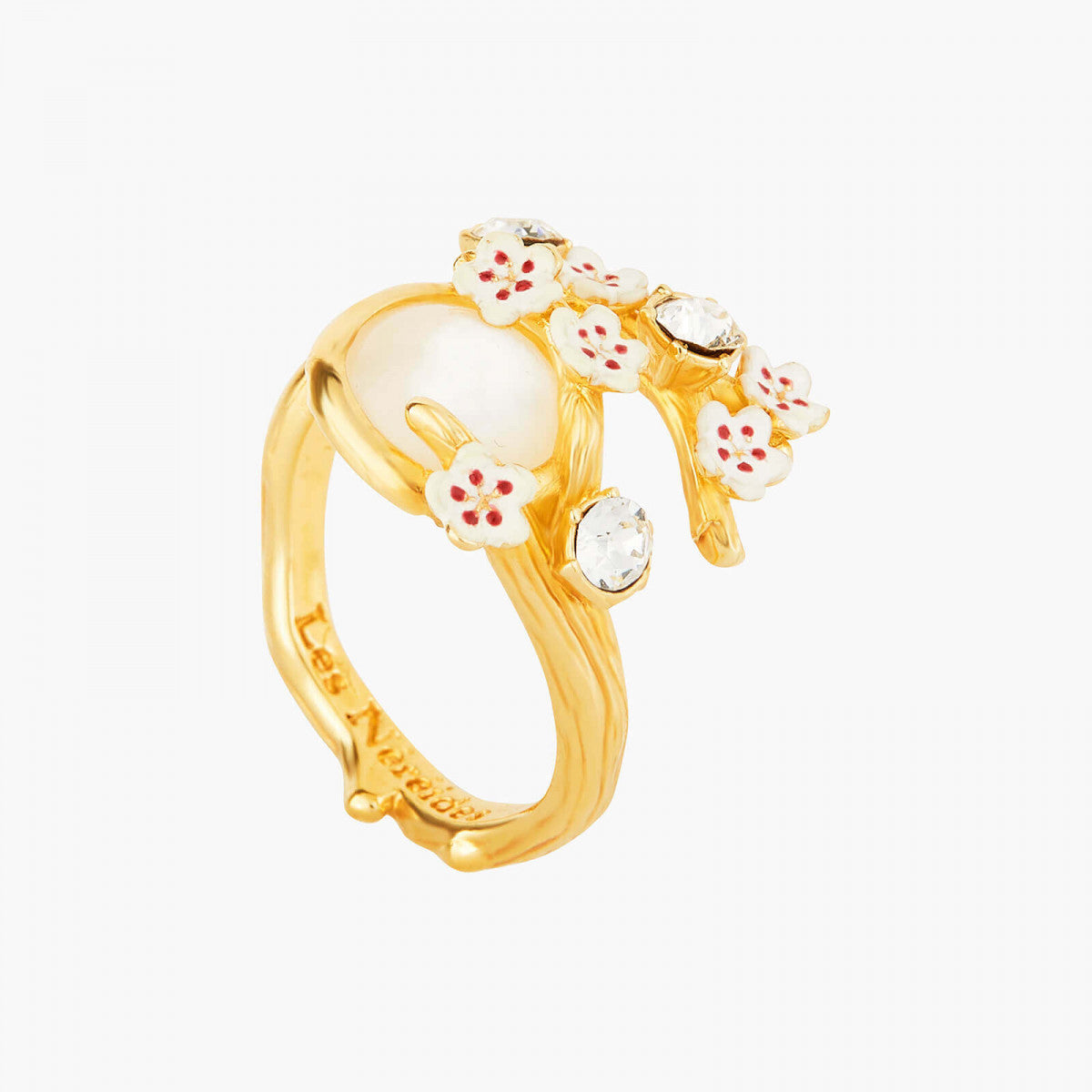 Japanese Cherry Blossom and Branches Adjustable Ring
