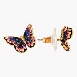 Japanese Emperor Butterfly Stud Earrings