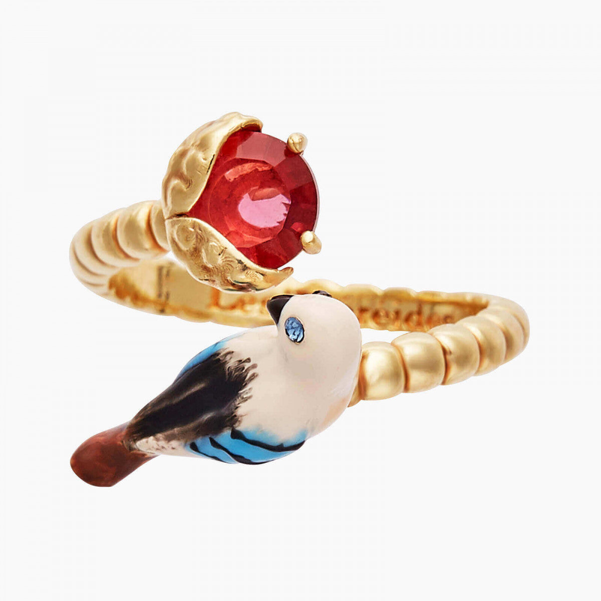 Jay and Chestnut Adjustable Ring