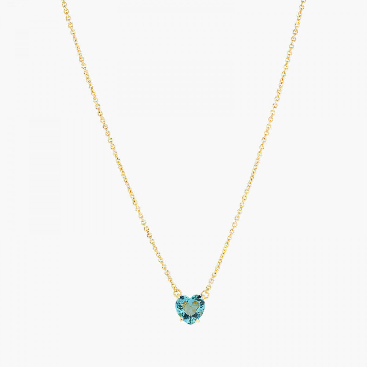 La Diamantine acqua azzura heart necklace pendant necklace