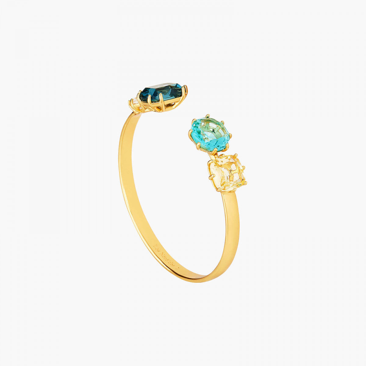 La Diamantine acqua azzura stones bangle bracelet