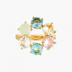 La Diamantine acqua azzura thin 6 stones ring