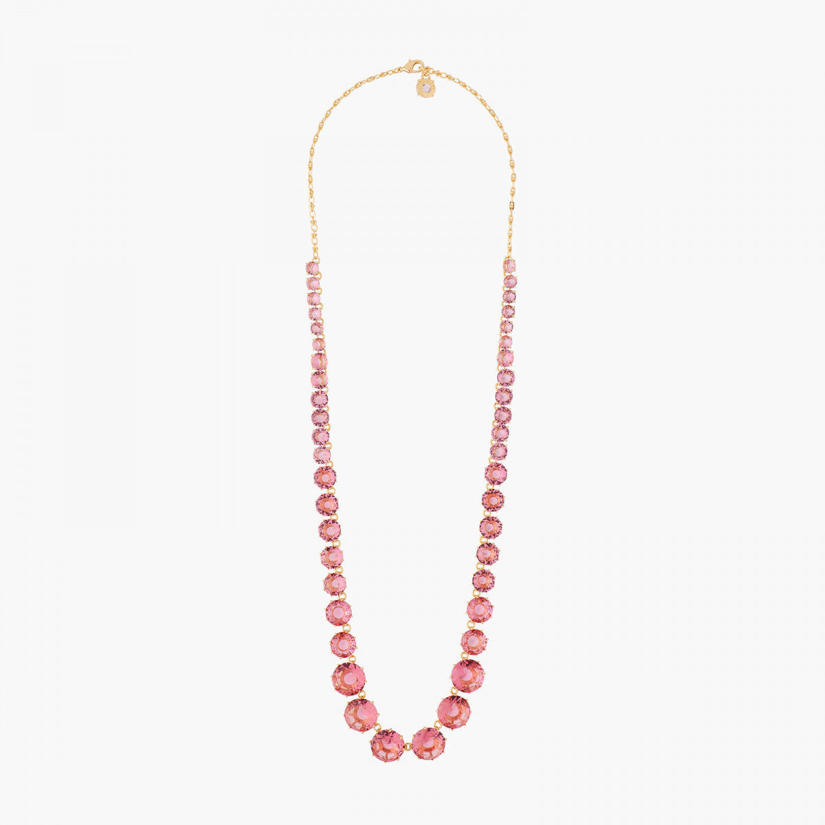 La Diamantine Long Necklace with Round Stones