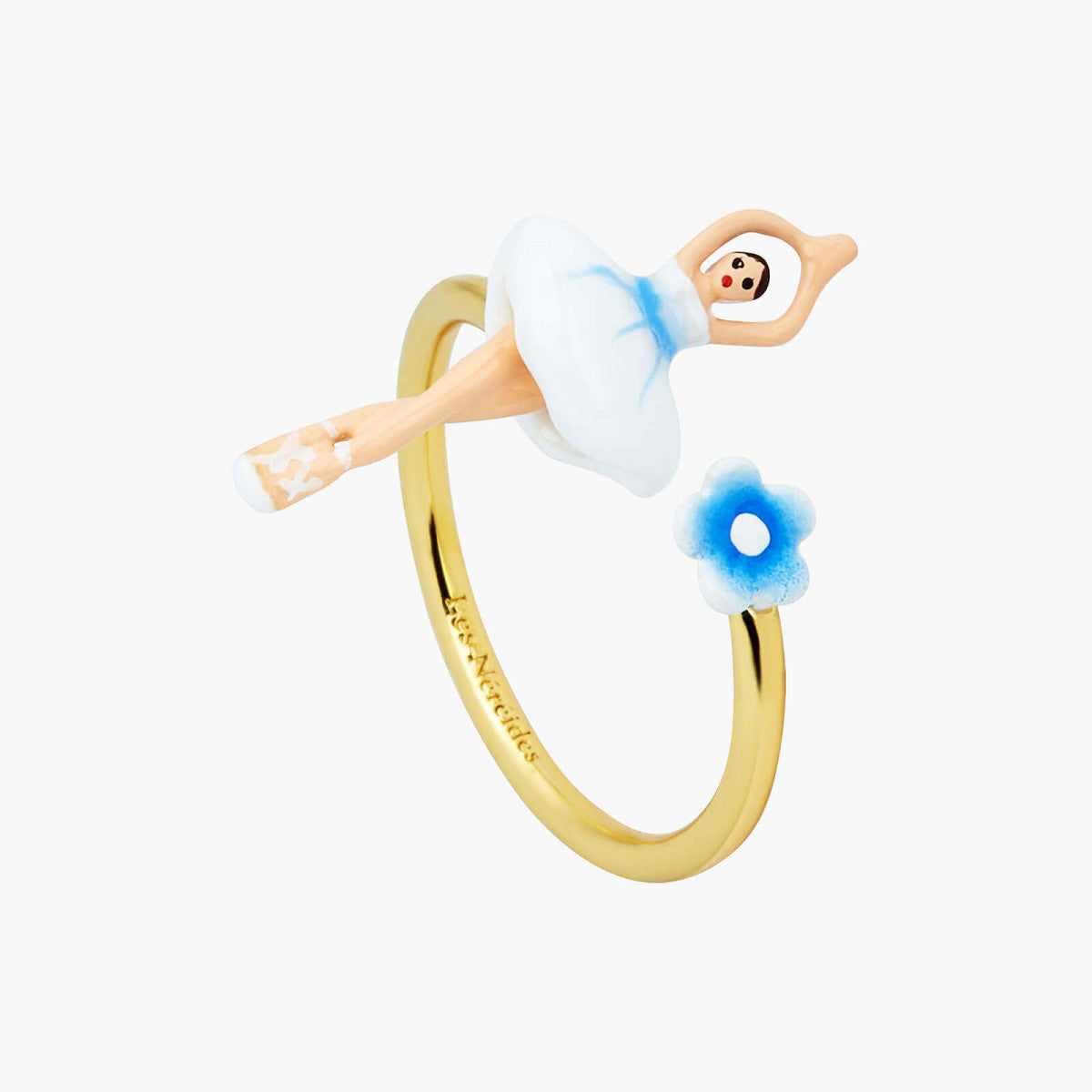 Mini Ballerina Forget-me-not adjustable Ring