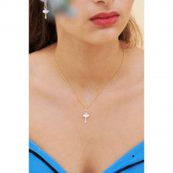 Mini Ballerina Forget-me-not thin necklace