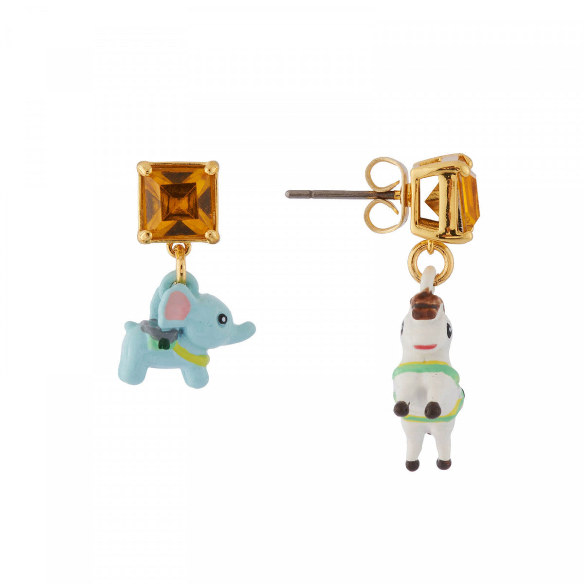 Mini Elephants and Carousel Horse Earrings