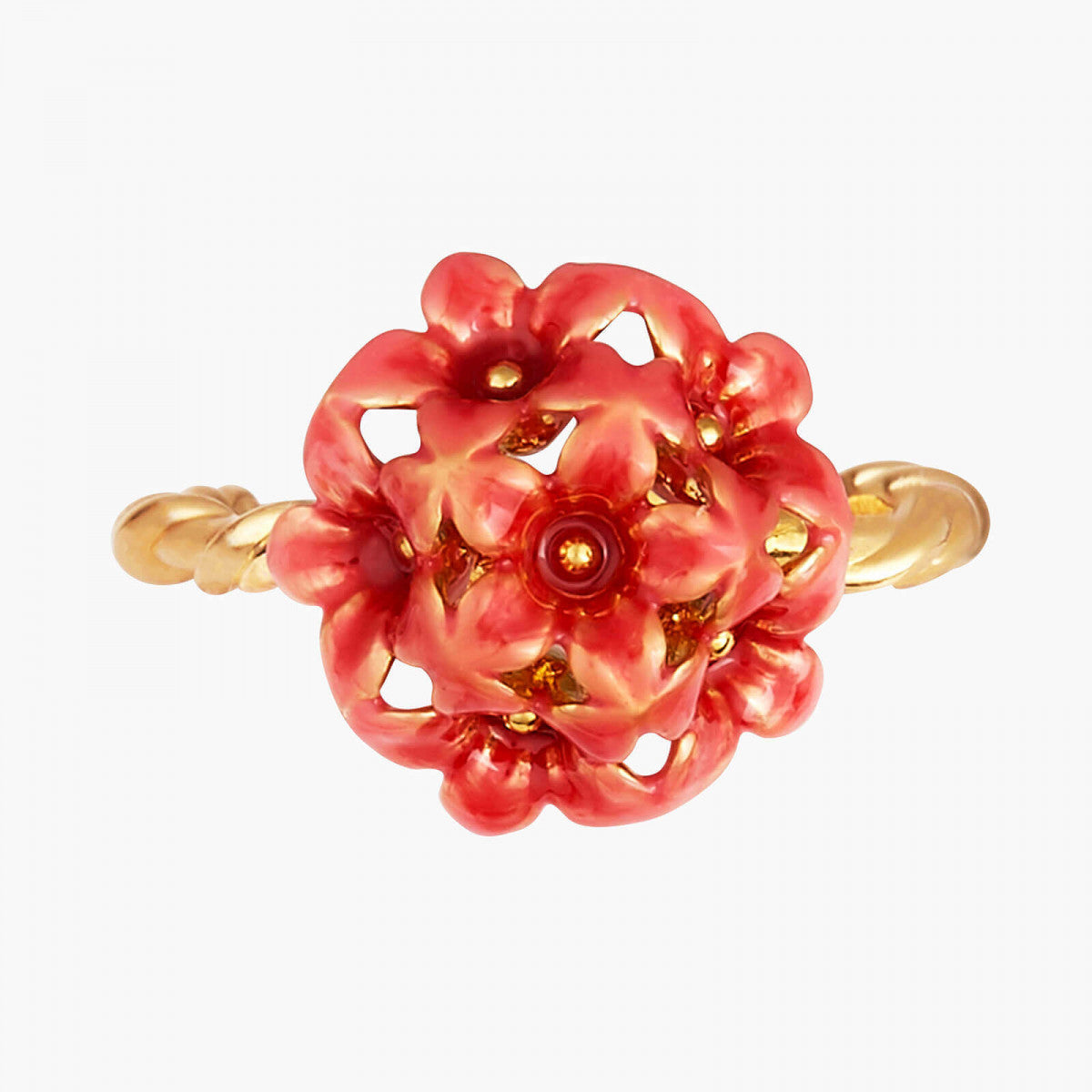 Miraculous Flowers Adjustable Ring
