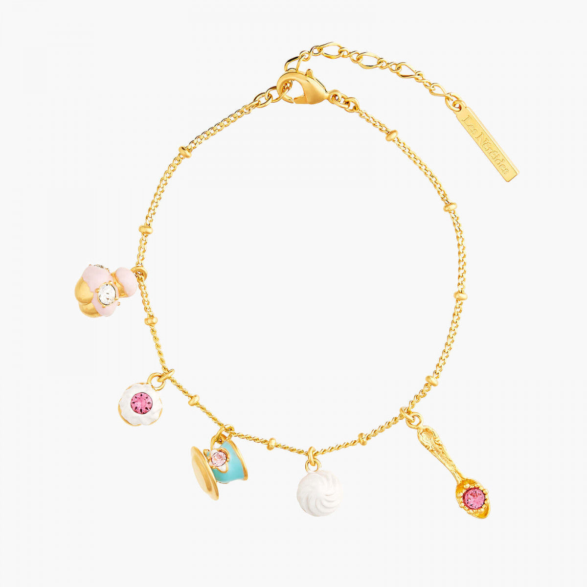 Patisserie French Delicacies charm bracelet