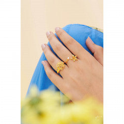 Pearl and Star Jasmine You and Me Ring
