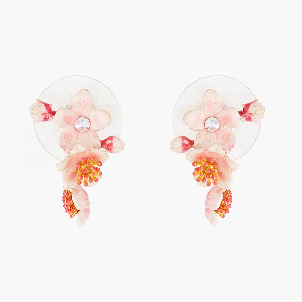 Pink japanese Cherry Blossom Stud Earrings