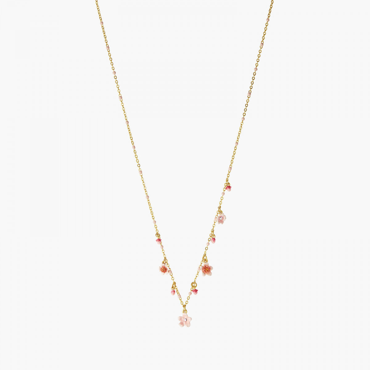 Pink Japanese Cherry Blossom Thin Necklace