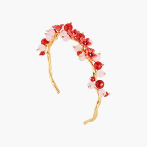 Redcurrant and Miraculous Flowers Bangle Bracelet