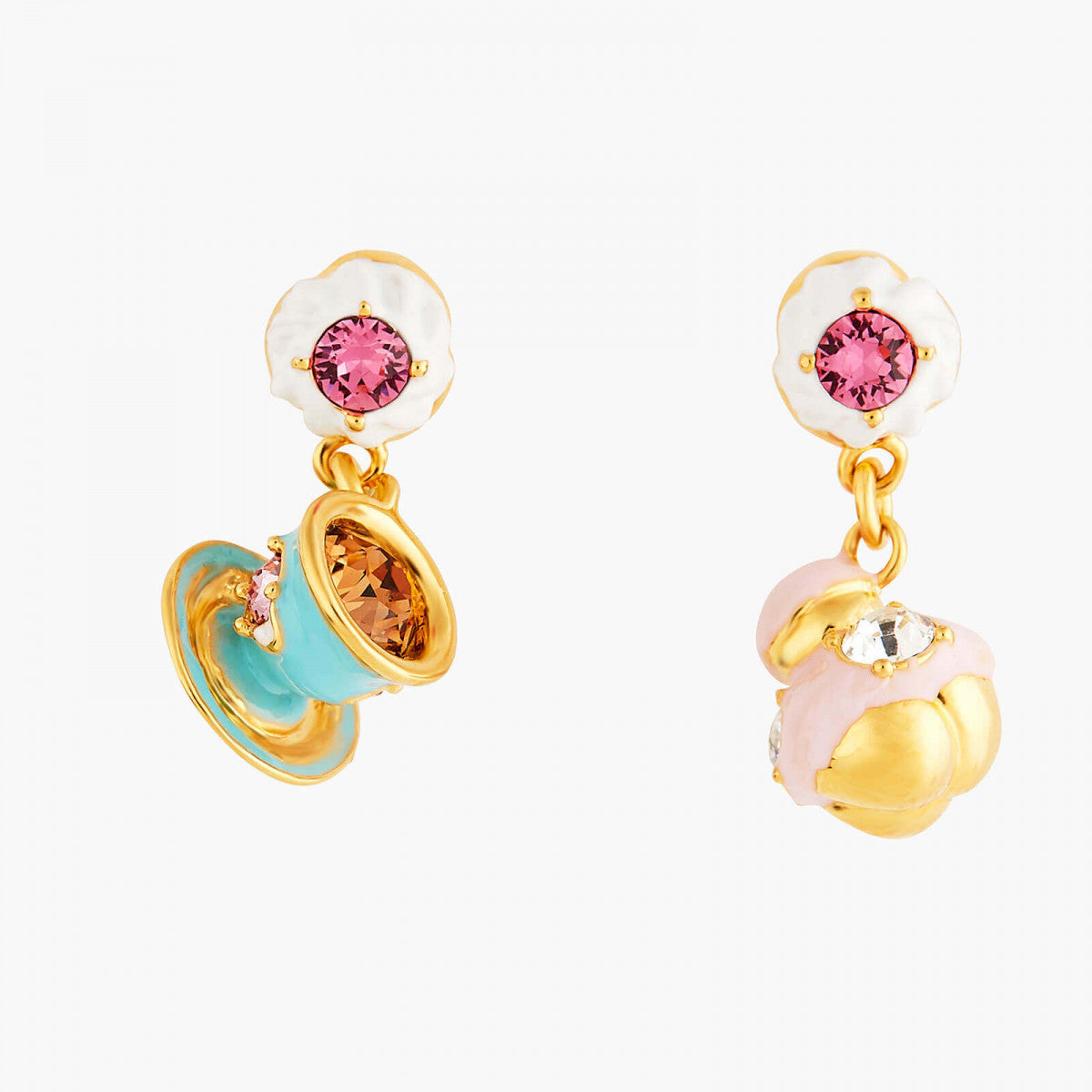 Religieuse and Teacup post earrings