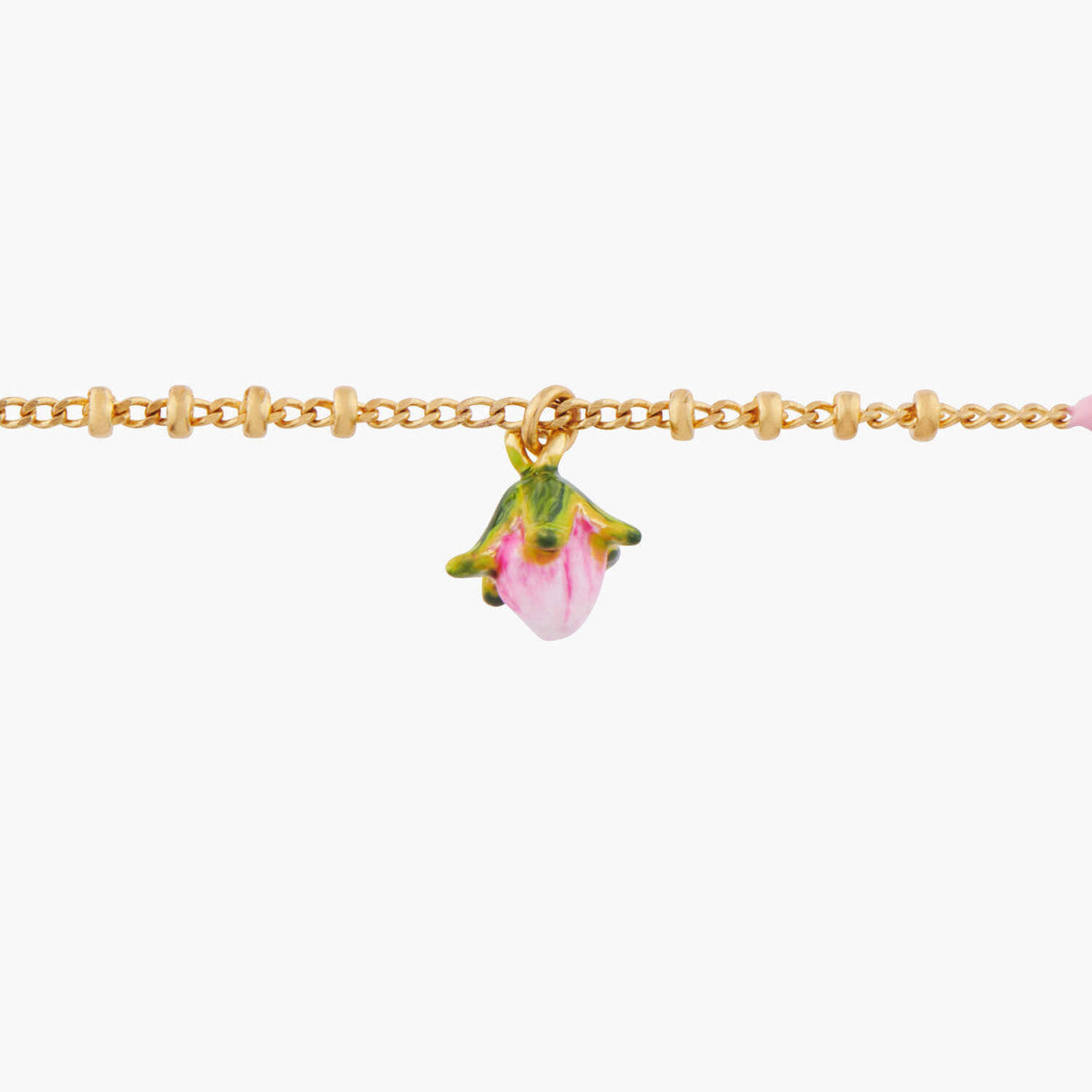 Rose Bud Charms Bracelet