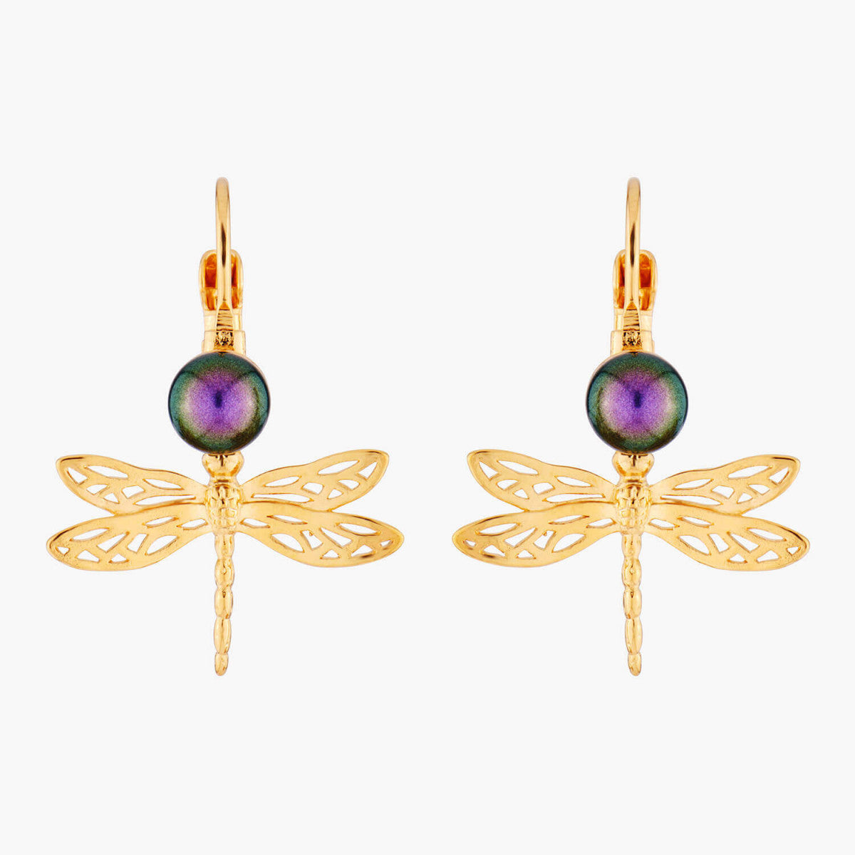 Small Dragonfly Dormeuses Earrings