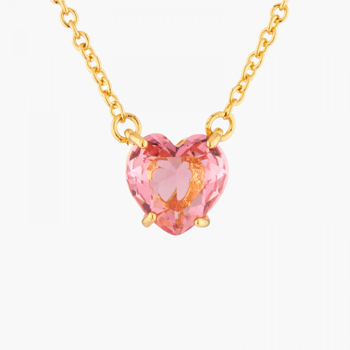 La Diamantine Necklace with Small Heart Stone