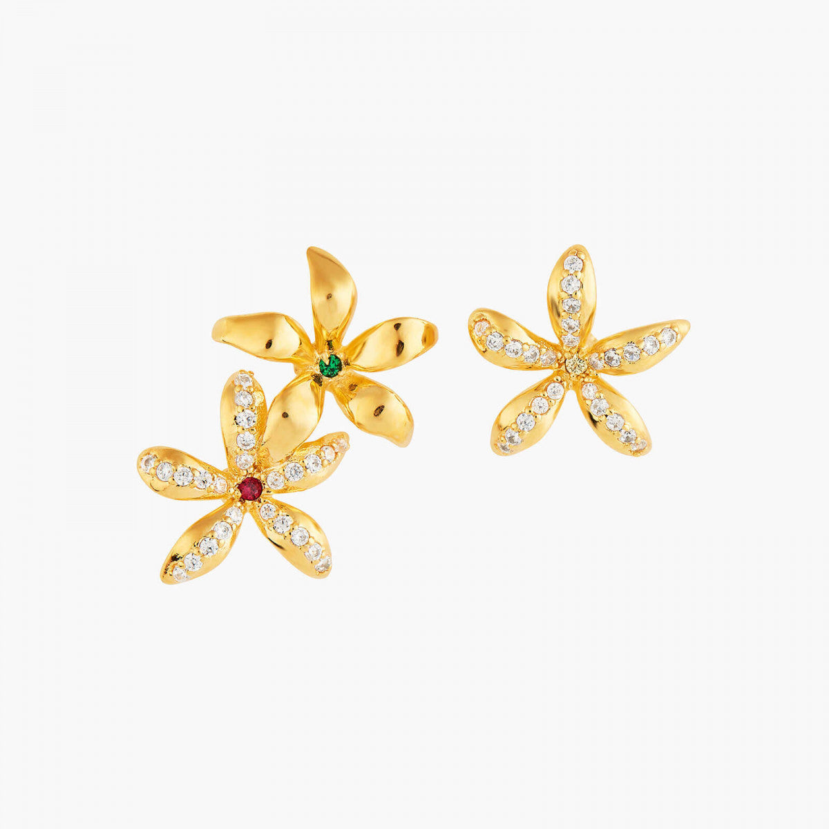 Star Jasmine Asymmetrical Post Earrings