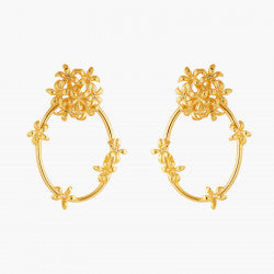 Star Jasmine Hoop Earrings