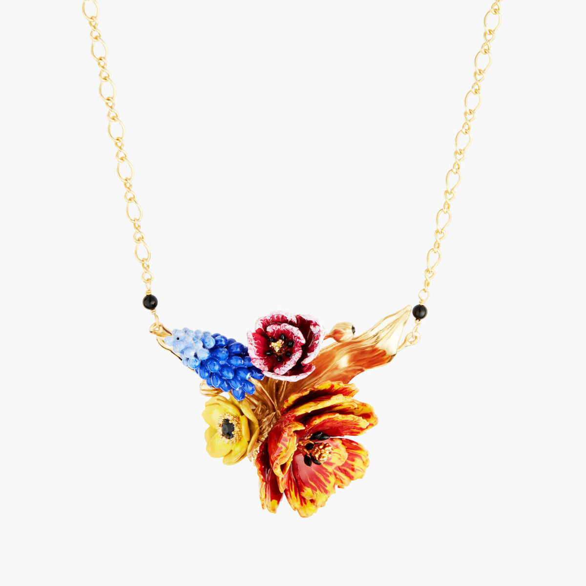 Winter Blooming Bouquet Collar Necklace