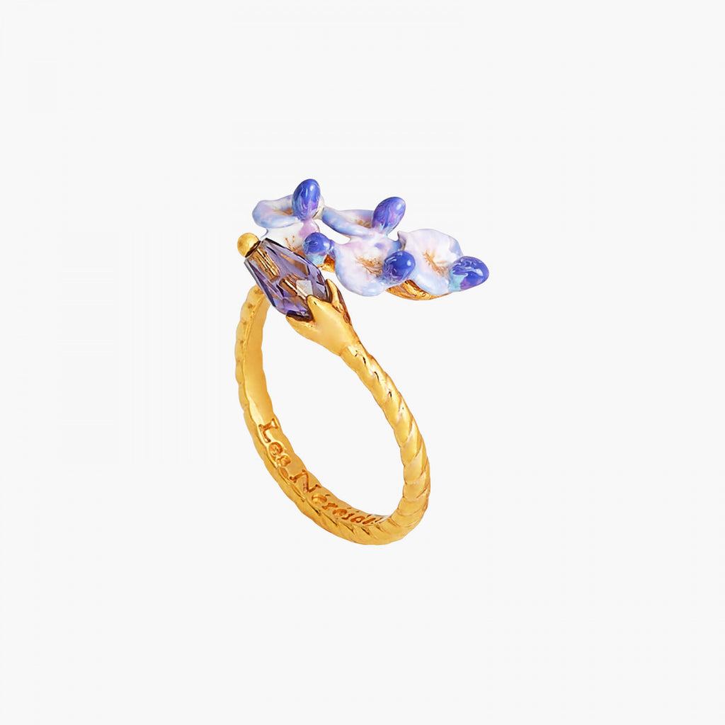Wisteria Flower adjustable ring