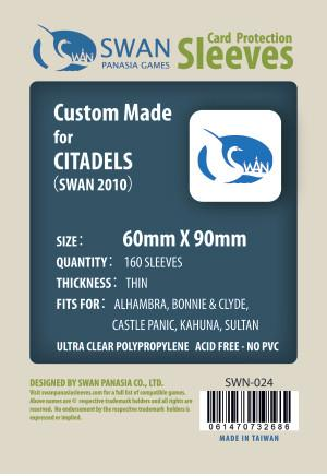 Swan - Card Sleeves (60 x 90 mm) - 160 Pack, Thin Sleeves - Standard Chimera