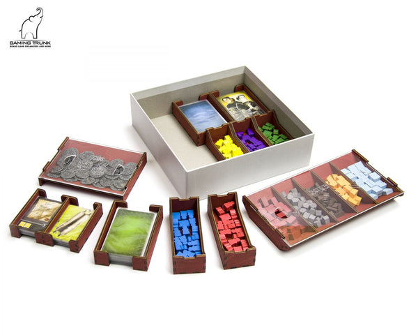 Gaming Trunk - Architects Organizer for Architects of the West Kingdom (Natural Unstained)