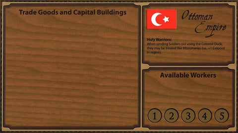 Glenn Drover's Empires: Age of Discovery – Ottoman Player Board and Gold Figures
