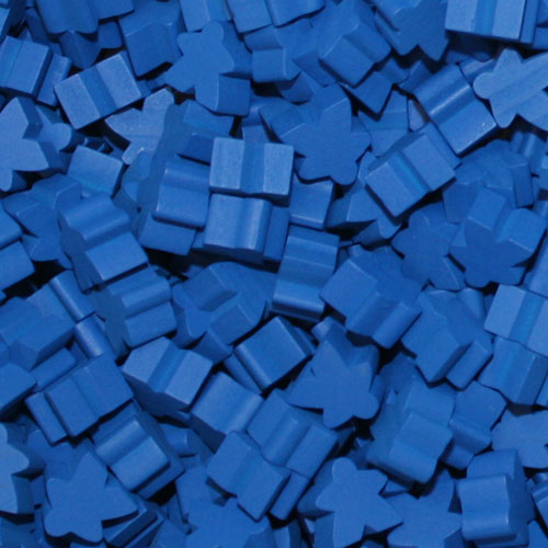 MeepleSource - Standard Meeples Pack (25 pcs) - Blue