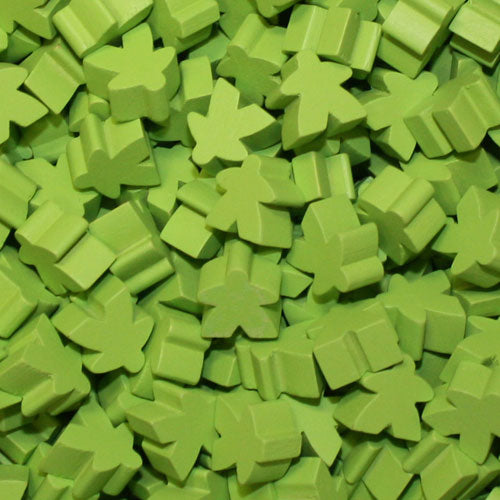 MeepleSource - Standard Meeples Pack (25 pcs) - Lime Green