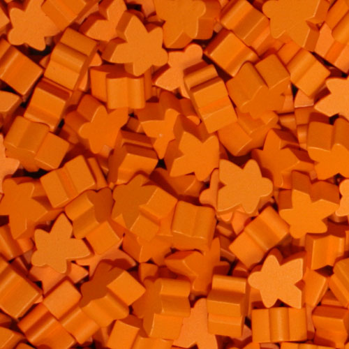 MeepleSource - Standard Meeples Pack (25 pcs) - Orange
