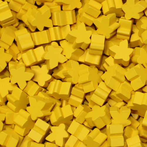 MeepleSource - Standard Meeples Pack (25 pcs) - Yellow