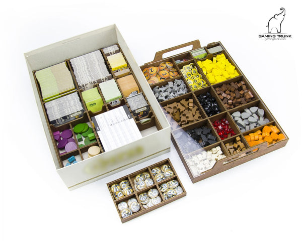 Gaming Trunk - Cave Organizer for Caverna (Walnut)