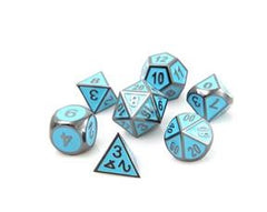 Metal Gothica Dice Set - Gunmetal Teal (7)
