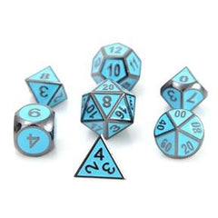 Metal Gothica Dice Set - Sinister Blue (7)