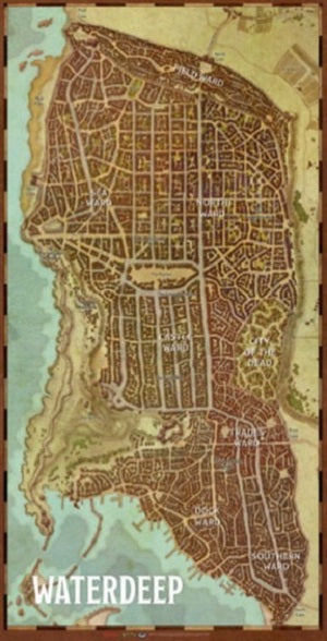 Dungeons & Dragons: Waterdeep - City Map