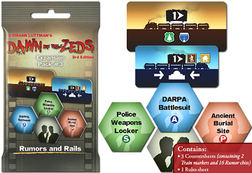 Dawn of the Zeds (Third edition): Rumors and Rails Expansion