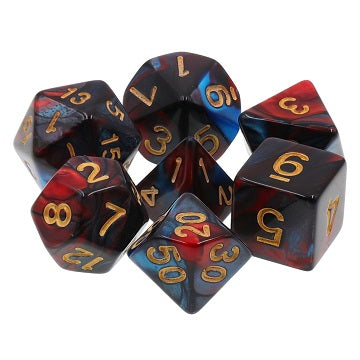 TMG RPG Dice Set - Fusion Red/Blue Red Son