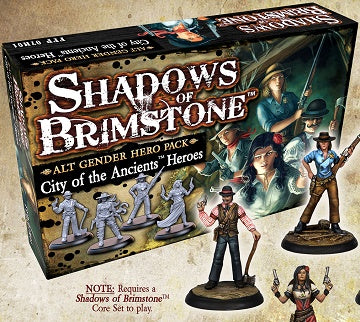 Shadows of Brimstone: City of the Ancients - Alt Gender Hero Pack *PRE-ORDER*
