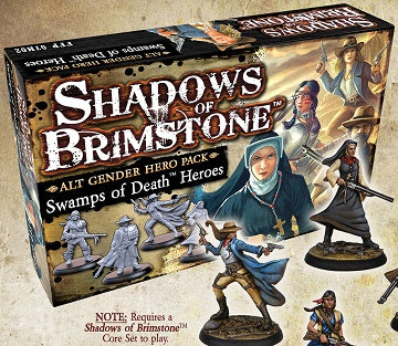 Shadows of Brimstone: Swamps of Death - Alt Gender Hero Pack *PRE-ORDER*