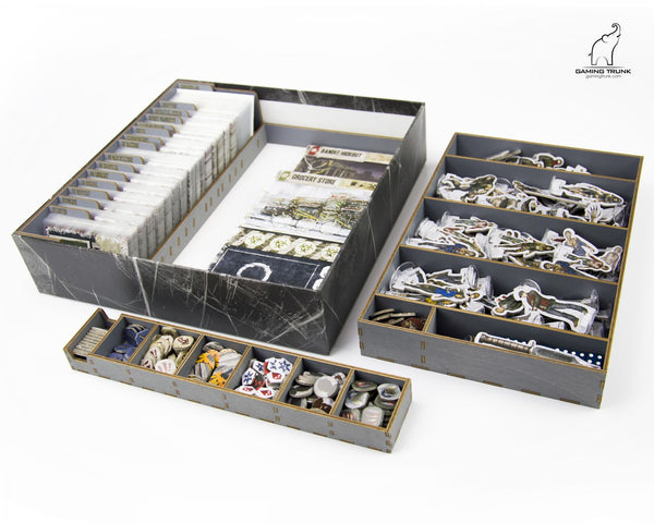 Gaming Trunk - Winter Night Organizer for Dead of Winter The Long Night (Gray)