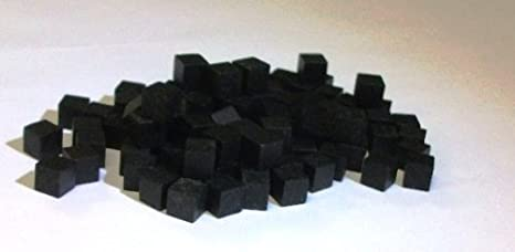 Mayday - Wood Cubes 8mm - Black (100ct)