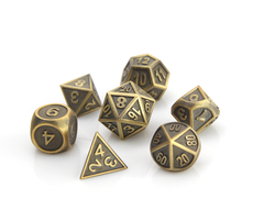 Metal Gothica Dice Set - Battleworn Gold (7)