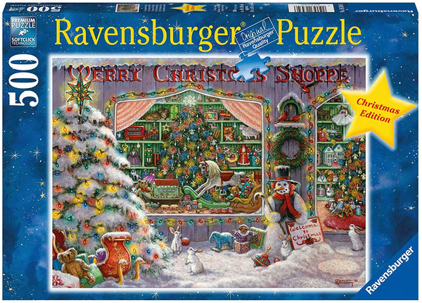 Puzzle - Ravensburger  - The Christmas Shop (500 Pieces)