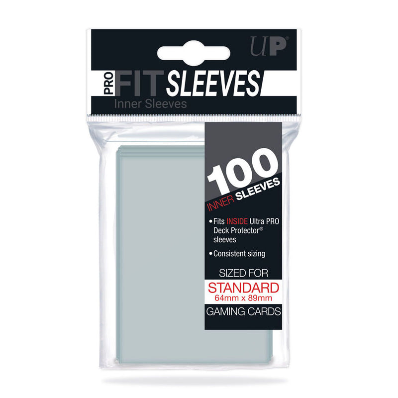 Ultra Pro Card Sleeves - PRO-Fit Standard Size Deck Protectors 100ct